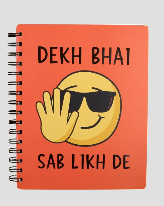 Shop Dekh Bhai Spiral Notebook-Front