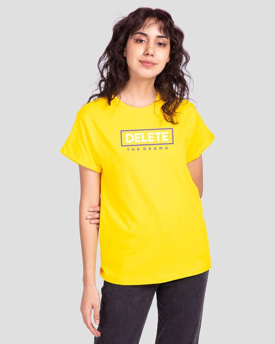 Shop Delete the Drama Boyfriend T-Shirts Pineapple Yellow -Back