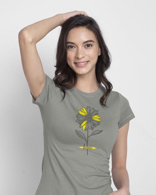 Shop Demure Half Sleeve T-Shirt-Front