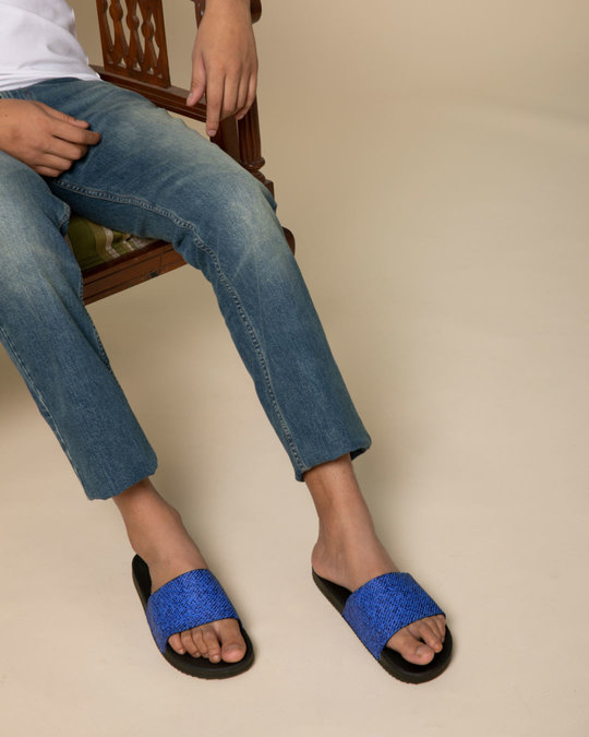 Shop Denim Sliders-Back