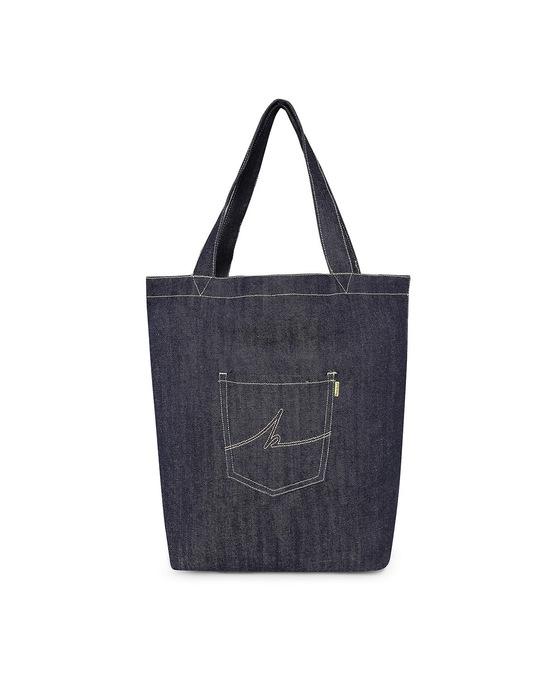 Shop Denim Tote Bag-Front