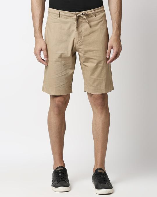 Shop Desert Beige Comfort Shorts-Back