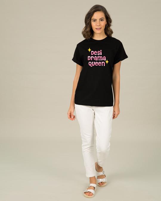 Shop Desi Drama Queen Boyfriend T-Shirt-Full