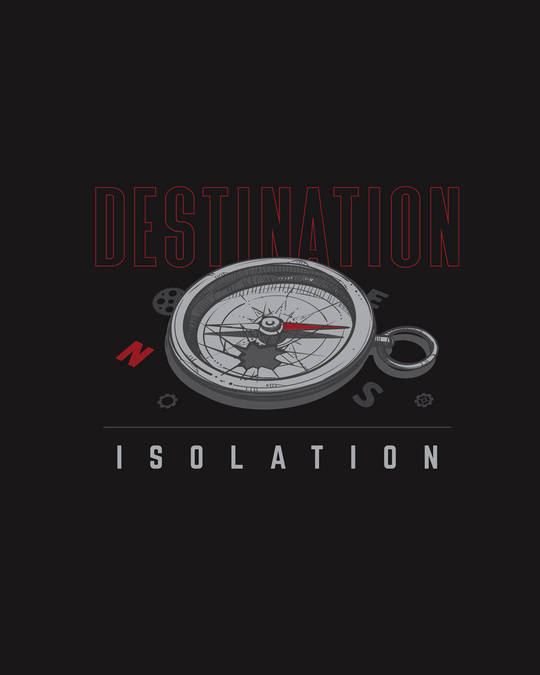 Shop Destination - Isolation Half Sleeve T-Shirt Black-Full