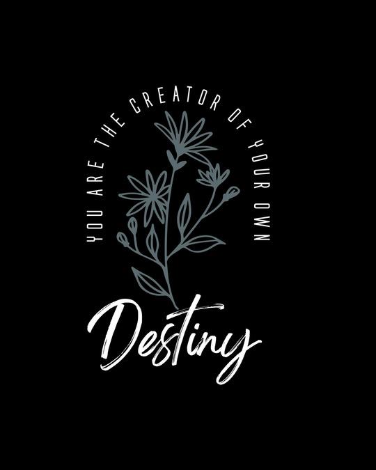 Shop Destiny Flowers Boyfriend T-Shirt Black