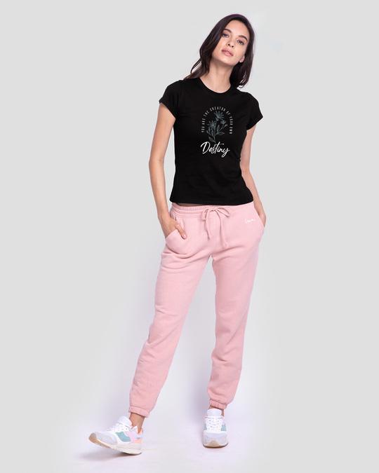Shop Destiny Flowers Half Sleeve T-Shirt Black-Design