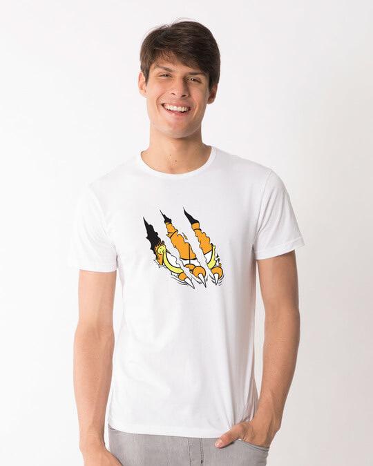 Shop Devil Smirk Half Sleeve T-Shirt (GL)-Back