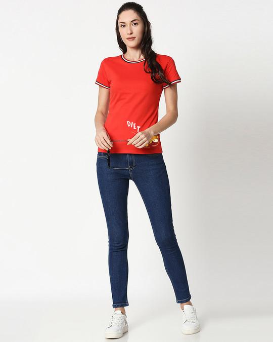 Shop Diet Kick Jerry Crewneck Varsity Rib H/S T-Shirt (TJL) Multicolor-Design