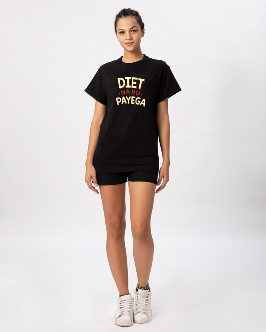 Shop Diet Na Ho Payega Boyfriend T-Shirt