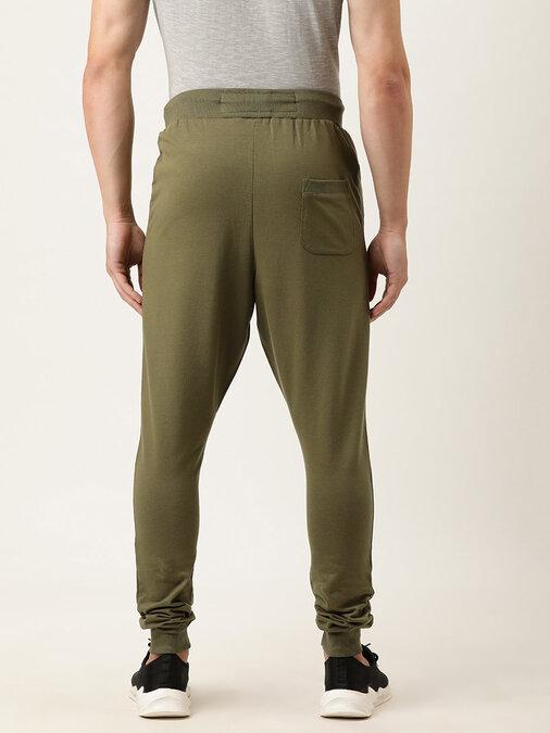 Shop Men's Green Solid Joggers-Design