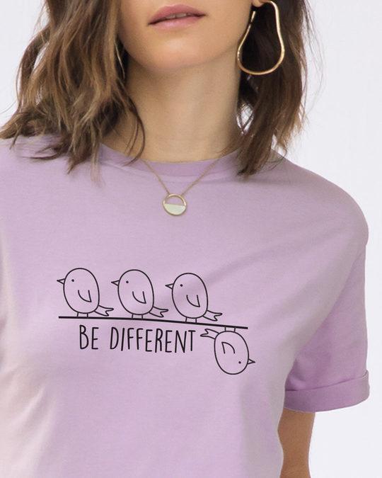 Shop Different Bird Boyfriend T-Shirt-Front