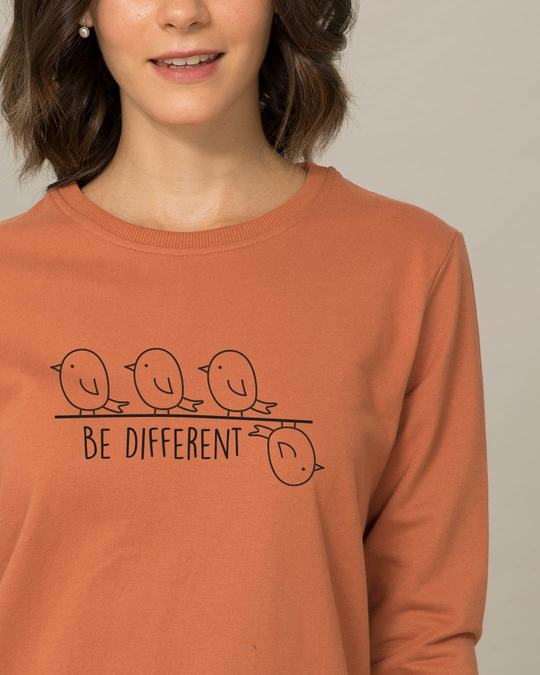 Shop Different Bird Fleece Light Sweatshirt-Front