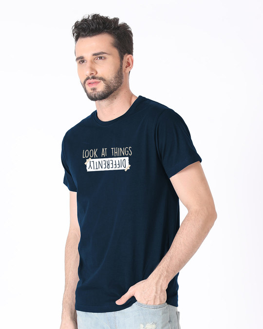 Shop Differently Half Sleeve T-Shirt-Full