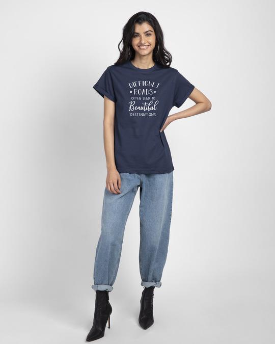 Shop Difficult Roads Boyfriend T-Shirt-Full