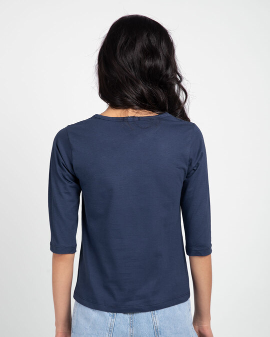 Shop Difficult Roads Round Neck 3/4th Sleeve T-Shirt-Back