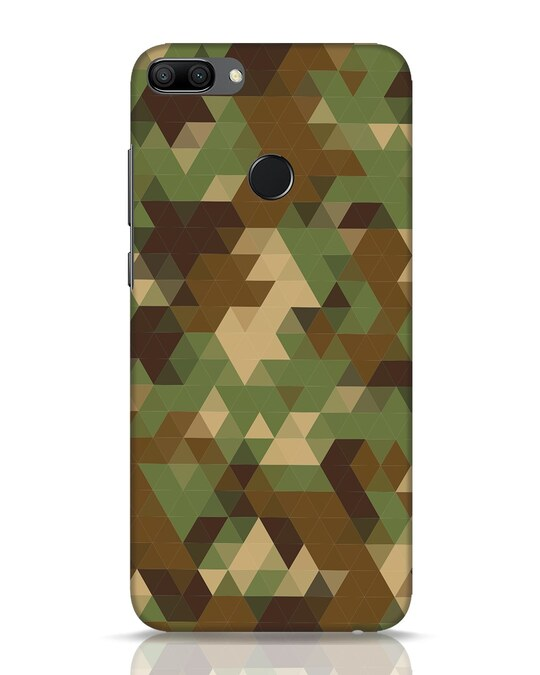 Shop Digital Camo Huawei Honor 9N Mobile Cover-Front