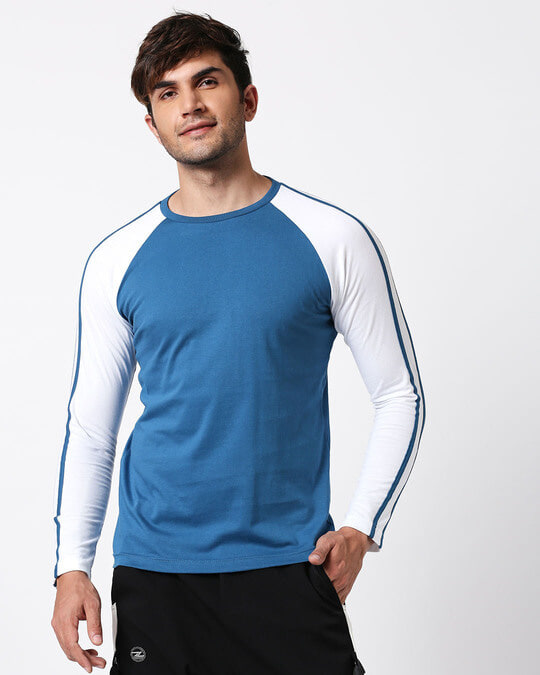 Shop Digi Teal Raglan Full Sleeve T-Shirt-Full