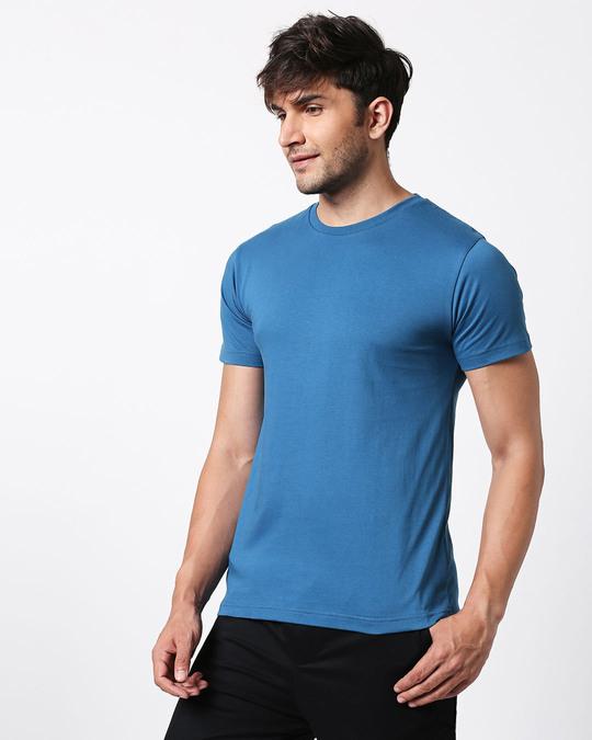 Shop Digi Teal Half Sleeve T-Shirt-Full