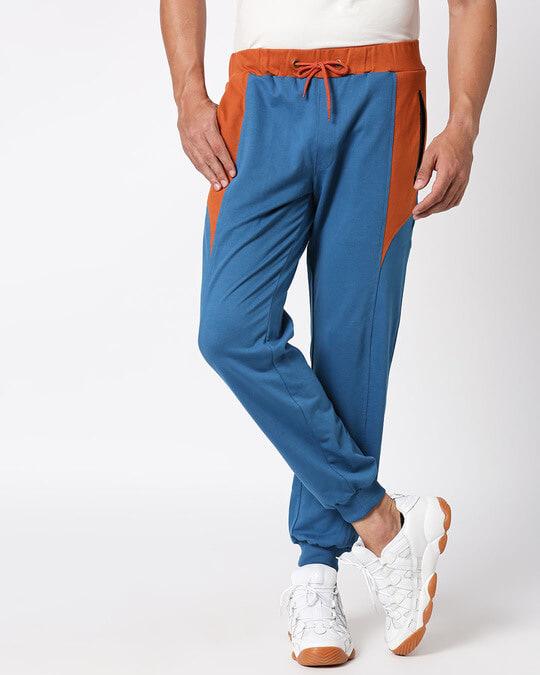 Shop Digi Teal Color Block Pocket Jogger-Design