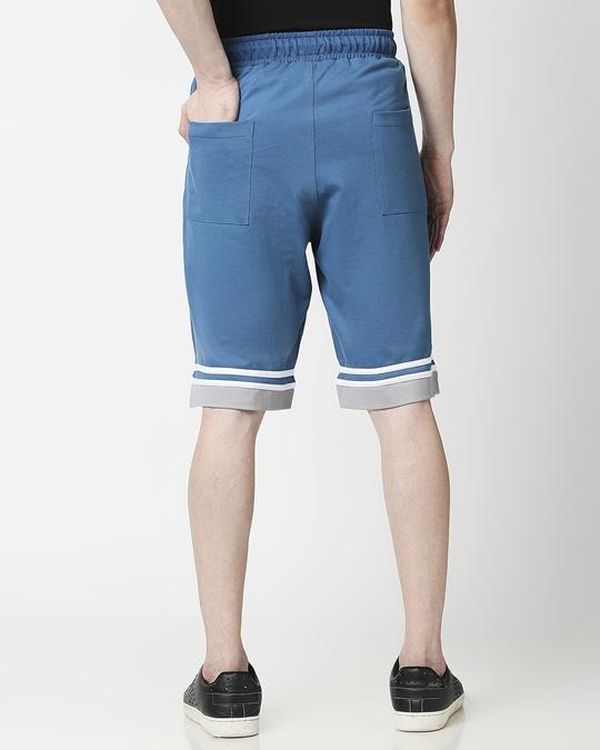 Shop Digital Teal Men's Varsity Shorts-Design