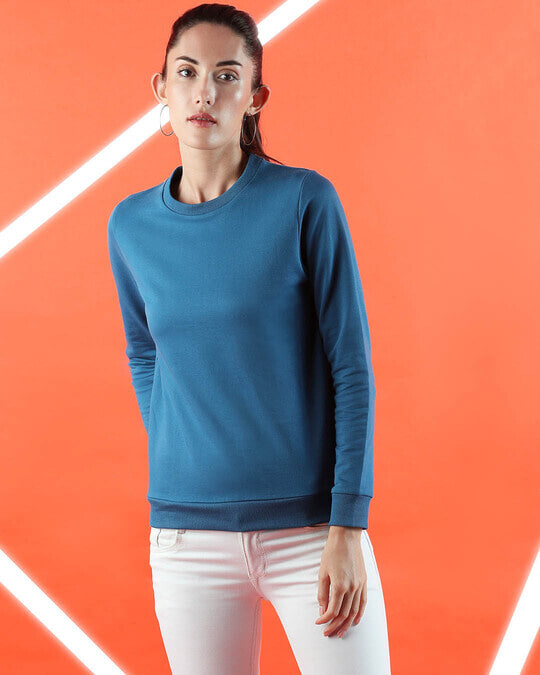Shop DIgi Teal Fleece Sweater-Front