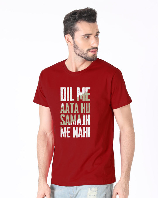 Shop Dil Me Aata Hu Half Sleeve T-Shirt-Full