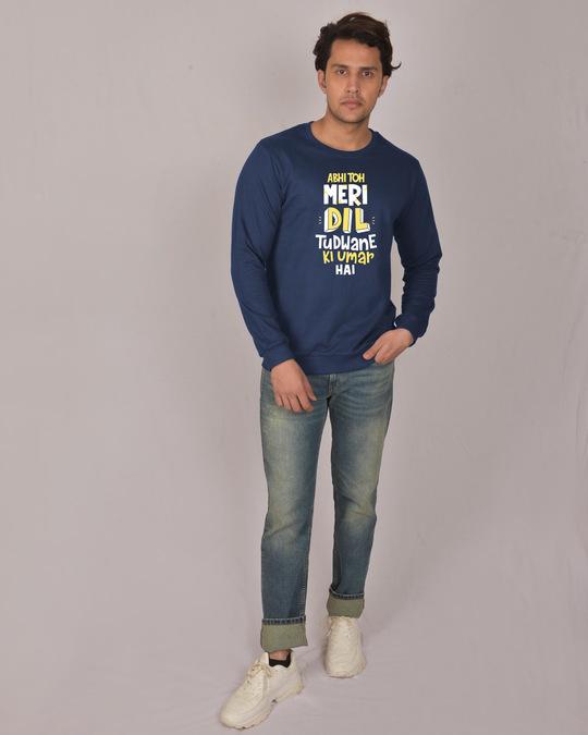 Shop Dil Tudwane Ki Umar Fleece Light Sweatshirt-Design