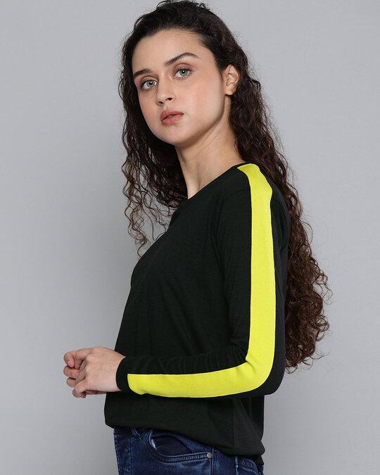 Shop Black Solid T Shirt-Design