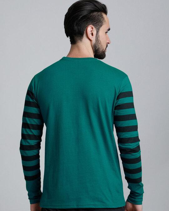 Shop Green Stripes T Shirt-Full