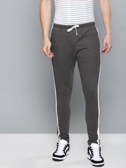 Shop Men's Black Solid Track Pants-Back