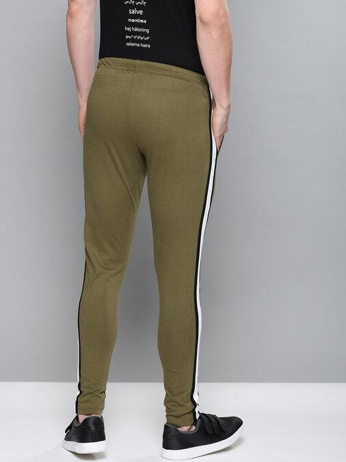 Shop Men's Green Solid Track Pants-Back