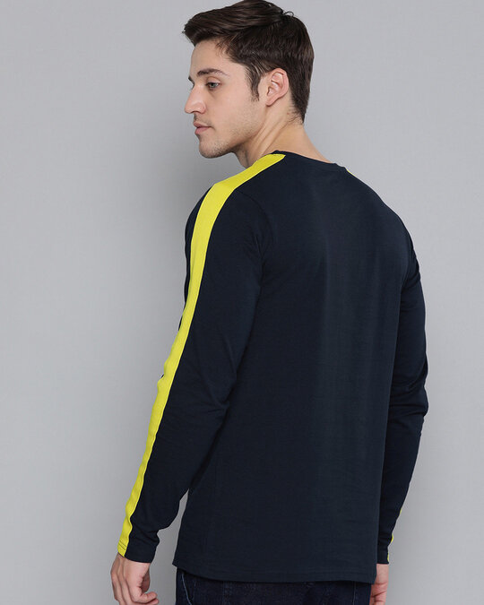 Shop Navy Solid T Shirt-Full