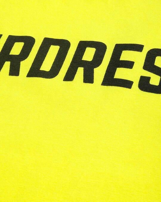 Shop Yellow Typographic T Shirt-Back