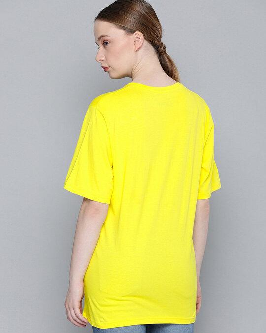 Shop Yellow Typographic T Shirt-Full