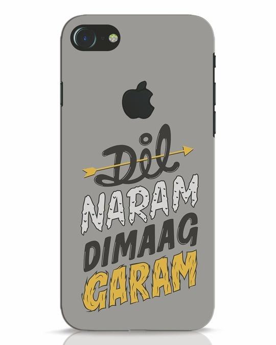 Shop Dimaag Garam iPhone 7 Logo Cut Mobile Cover-Front
