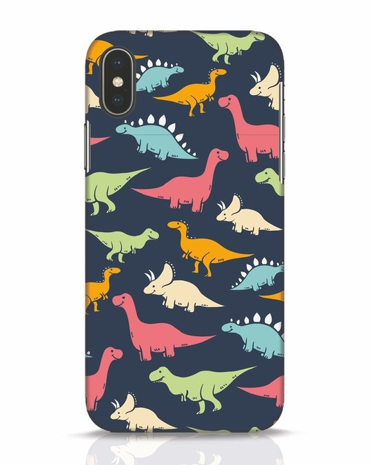 Shop Dinos iPhone X Mobile Cover-Front