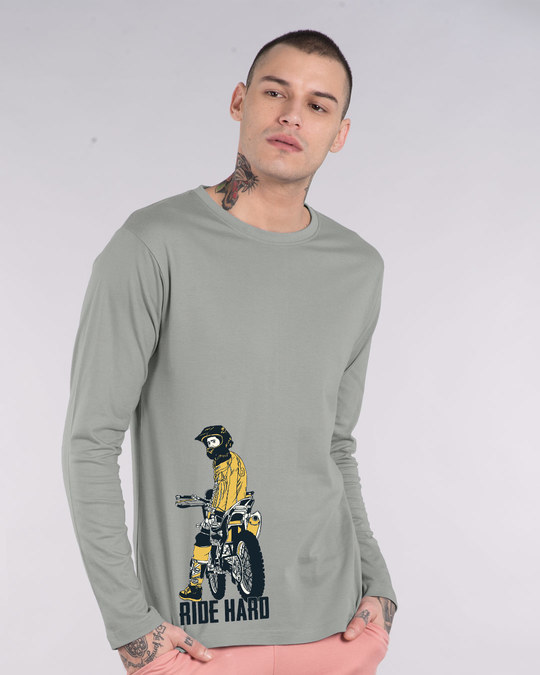 Shop Dirt Bike Full Sleeve T-Shirt-Front