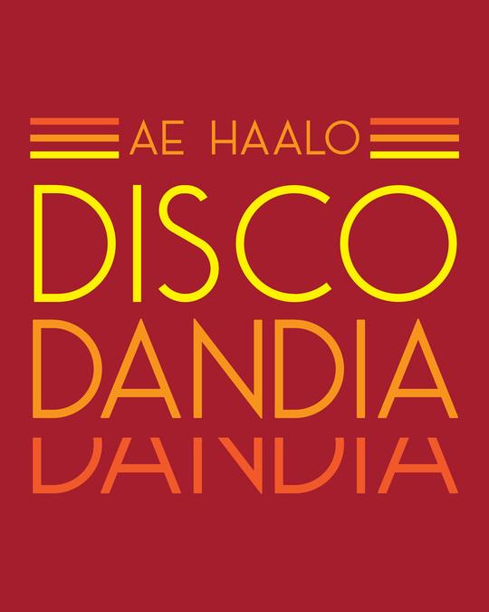 Shop Disco Dandiya Half Sleeve T-shirt Bold Red