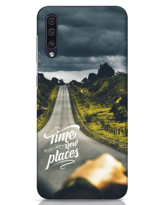 Shop Discover New Places Samsung Galaxy A50 Mobile Cover-Front