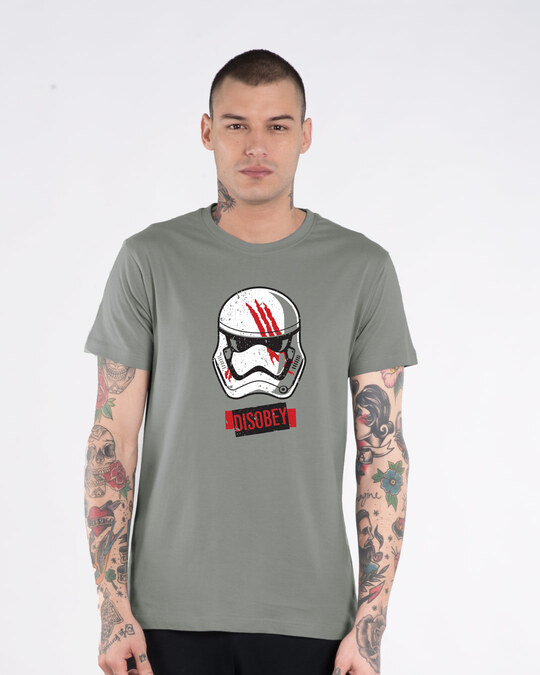 Shop Disobey Half Sleeve T-Shirt (SWL)-Front
