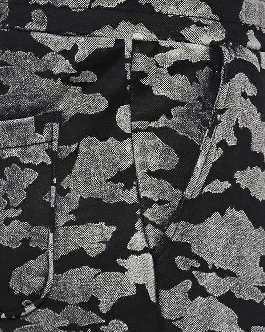 Shop Black Indigo Cotton Printed Slim  Fit Joggers For Women's