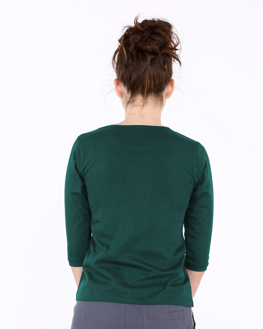 Shop Do It Round Neck 3/4th Sleeve T-Shirt-Back