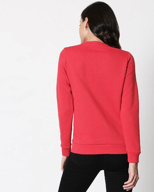 Shop Do More Of Fleece Sweater Red Melange -Back