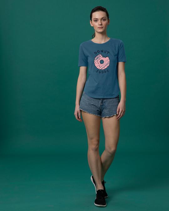 Shop Do Not Judge Basic Round Hem T-Shirt