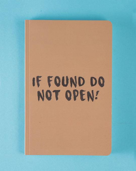 Shop Do Not Open Notebook-Front