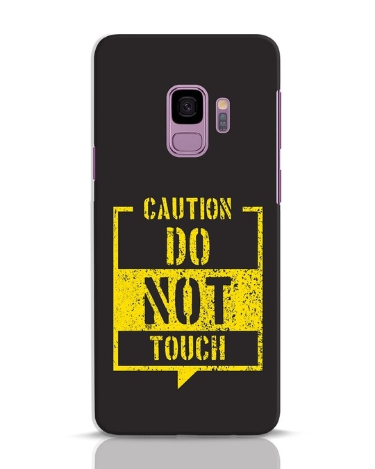 Shop Do Not Touch Samsung Galaxy S9 Mobile Cover-Front