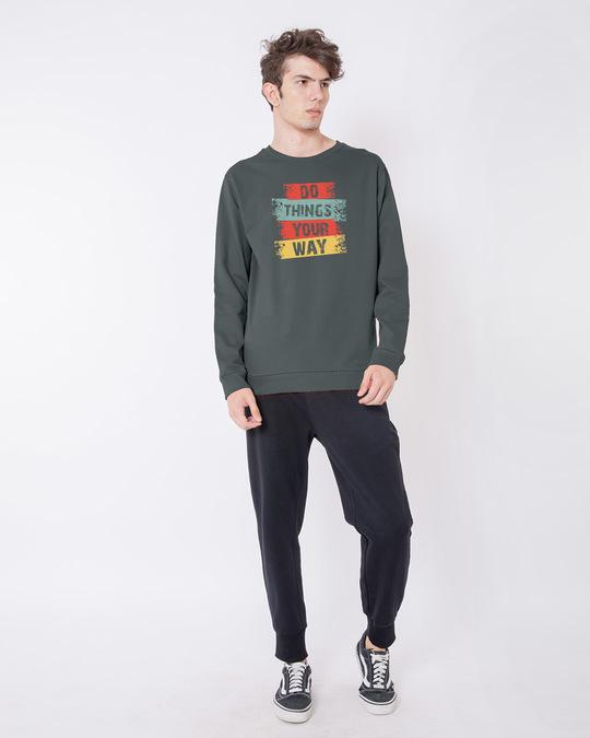Shop Do Things Fleece Light Sweatshirt-Design