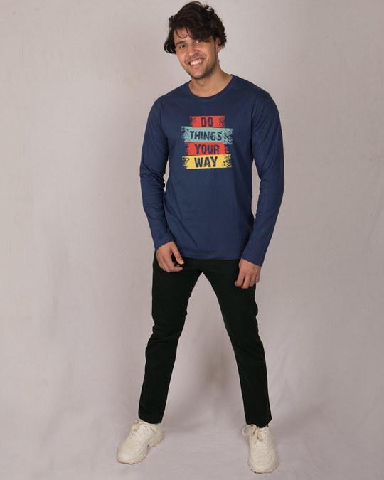 Shop Do Things Full Sleeve T-Shirt-Full