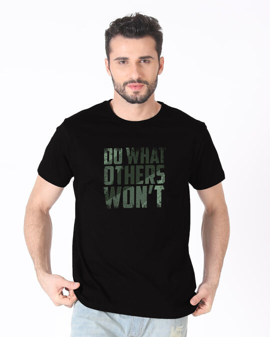 Shop Do What Half Sleeve T-Shirt-Back