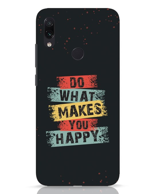 Shop Do What Xiaomi Redmi Note 7 Pro Mobile Cover-Front